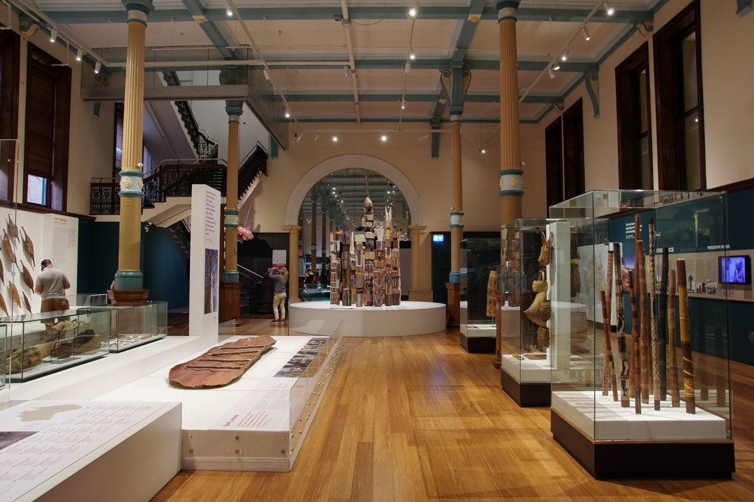 Exposition aborigene à l'Australian Museum de Sydney
