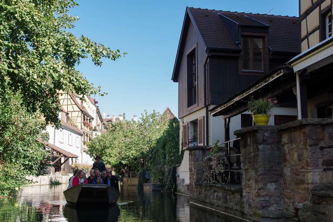 Balade en barque à Colmar