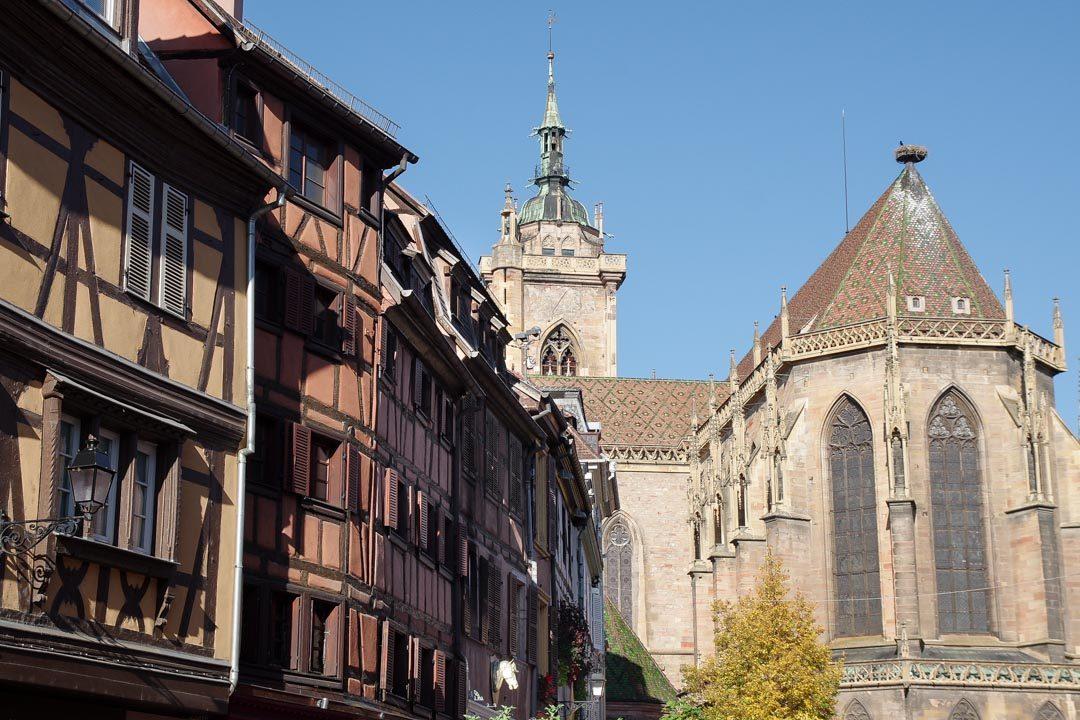 Vue arriere de la cathédrale de Colmar