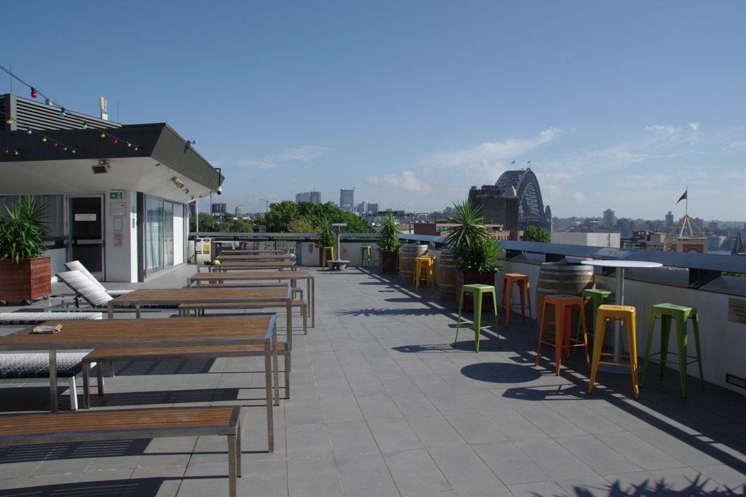 Rooftop de l'auberge Sydney Harbour YHA