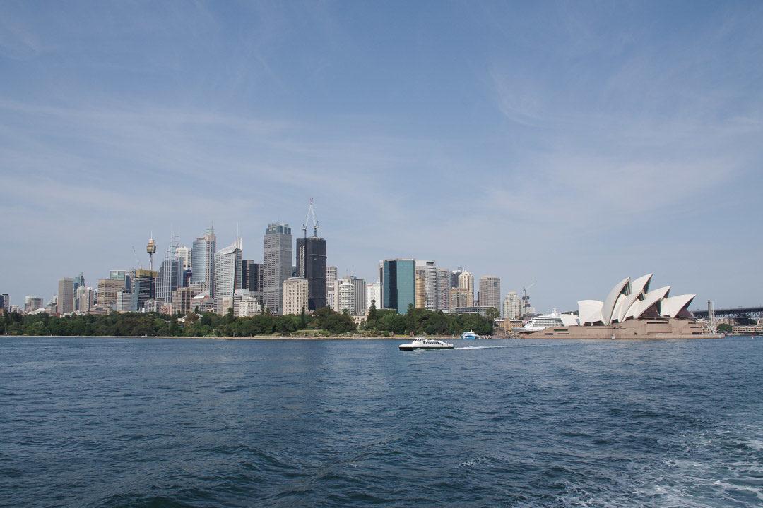 vue le le CDB de Sydney et l'Opéra