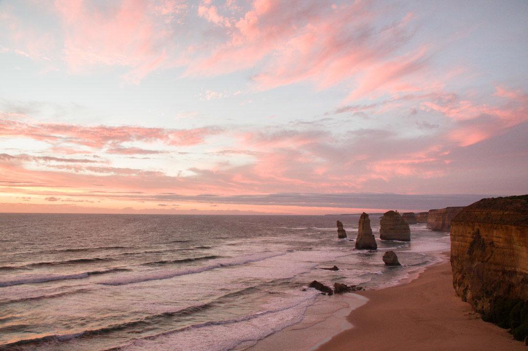 Great Ocean Road - Coucher du soleil sur les douze apotres