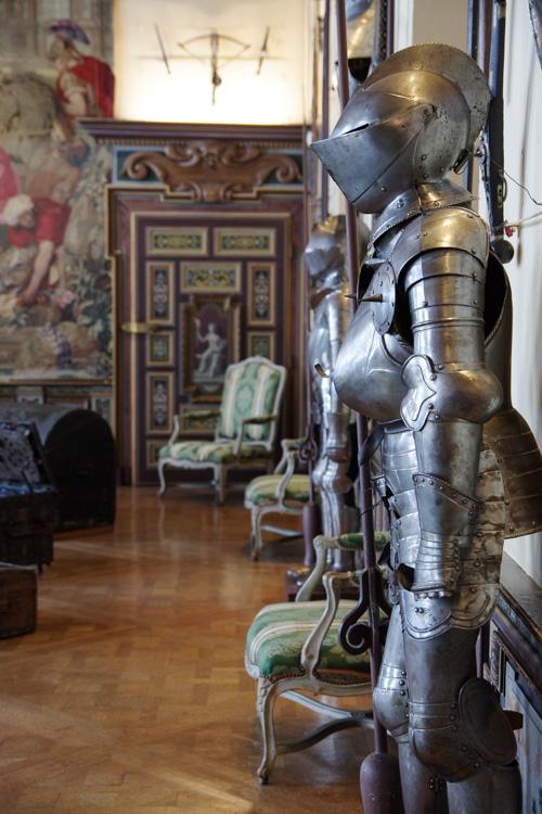 salle d'armes - Château de Cheverny