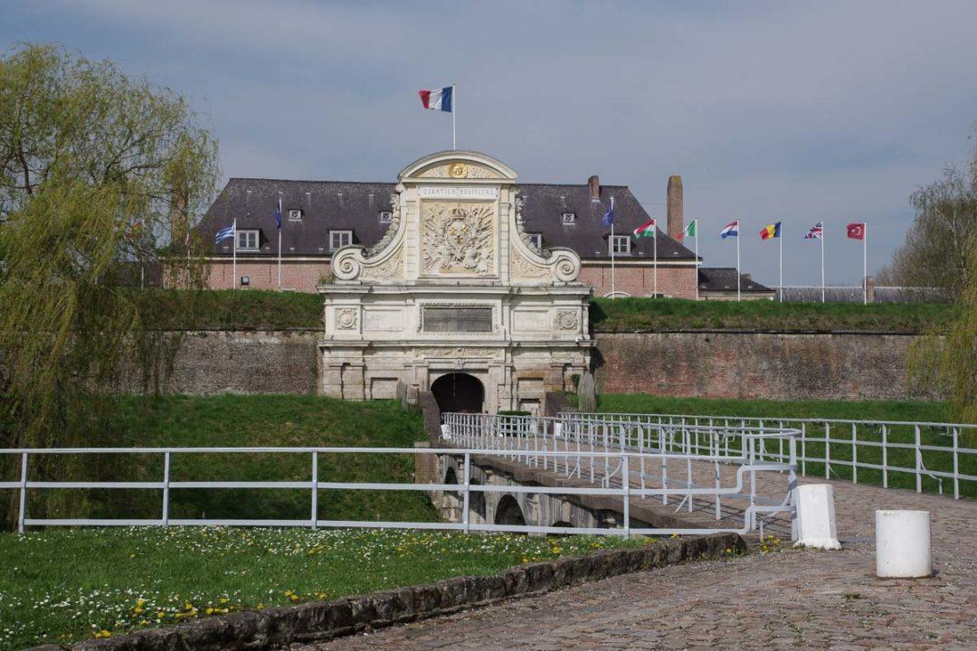 Portail principale de la Citadelle Vauban à Lille