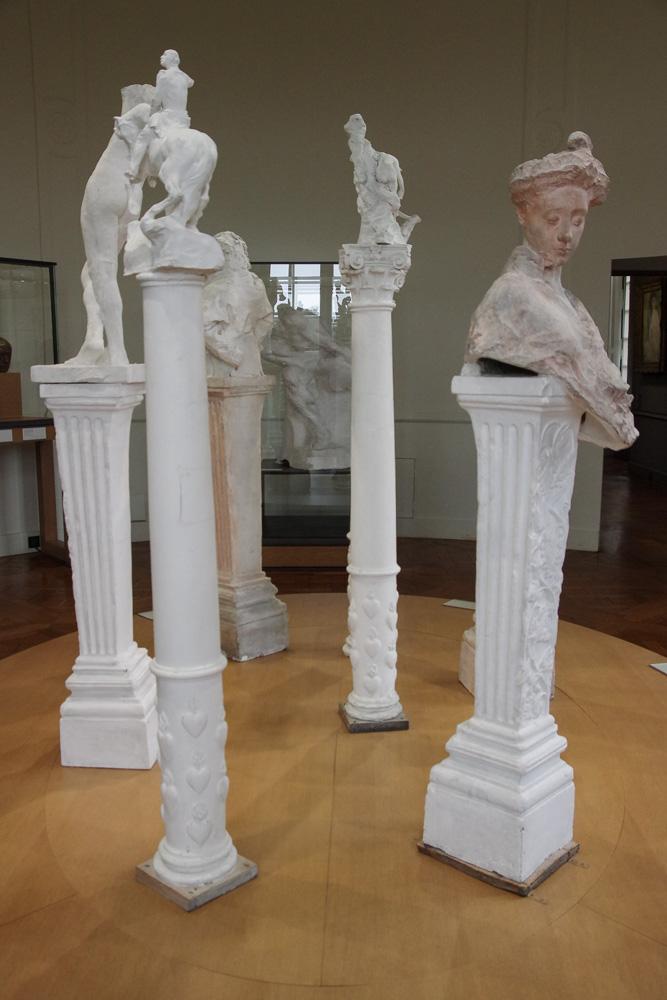 buste en platre - musée Rodin