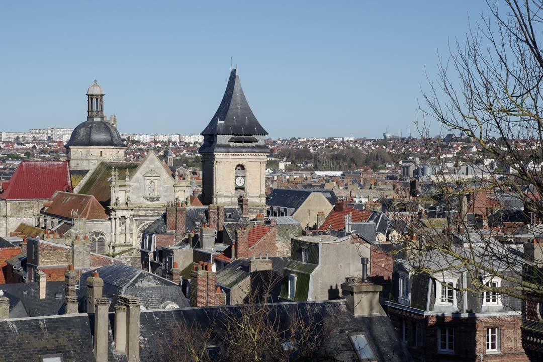 Panorama sur Dieppe depuis le Château