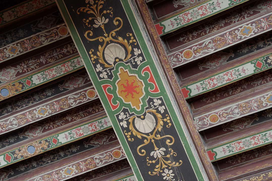 Un plafond peint dans le chateau de Cheverny