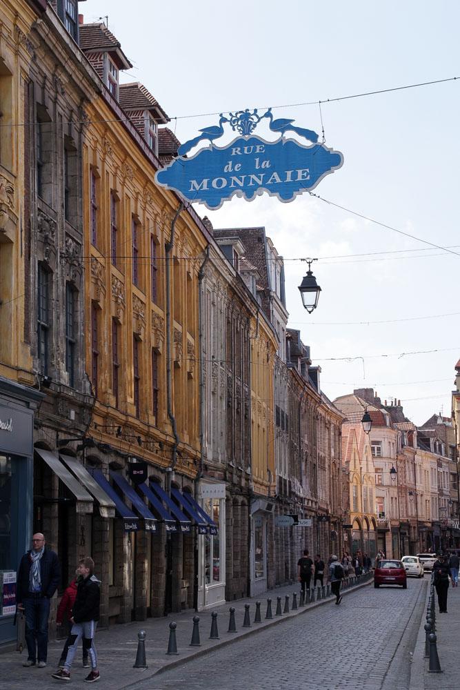 Rue de la Monnaie dans le Vieux Lille
