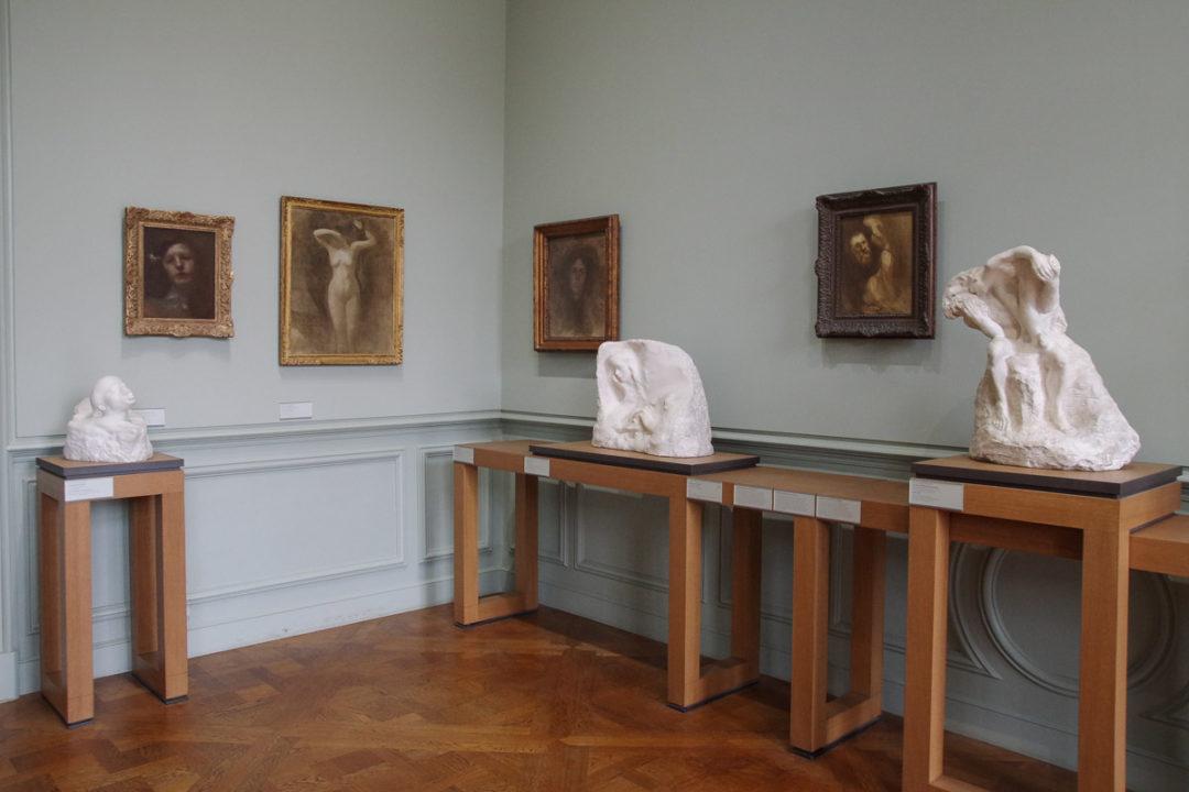 Visite du musée rodin, sculpture et peintures