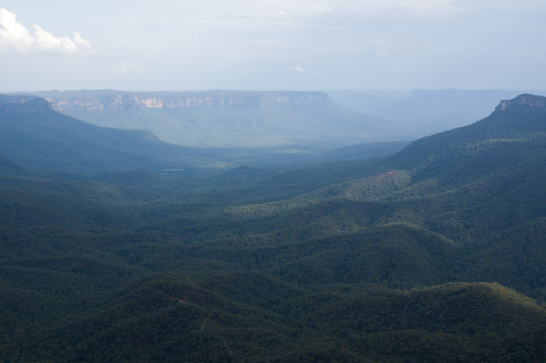 Panorama sur les Blue Mountains depuis Sublime Point
