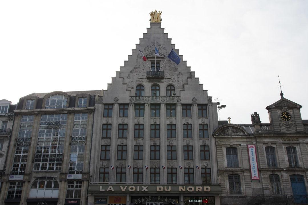 La Voix du Nord sur la Grand Place de Lille