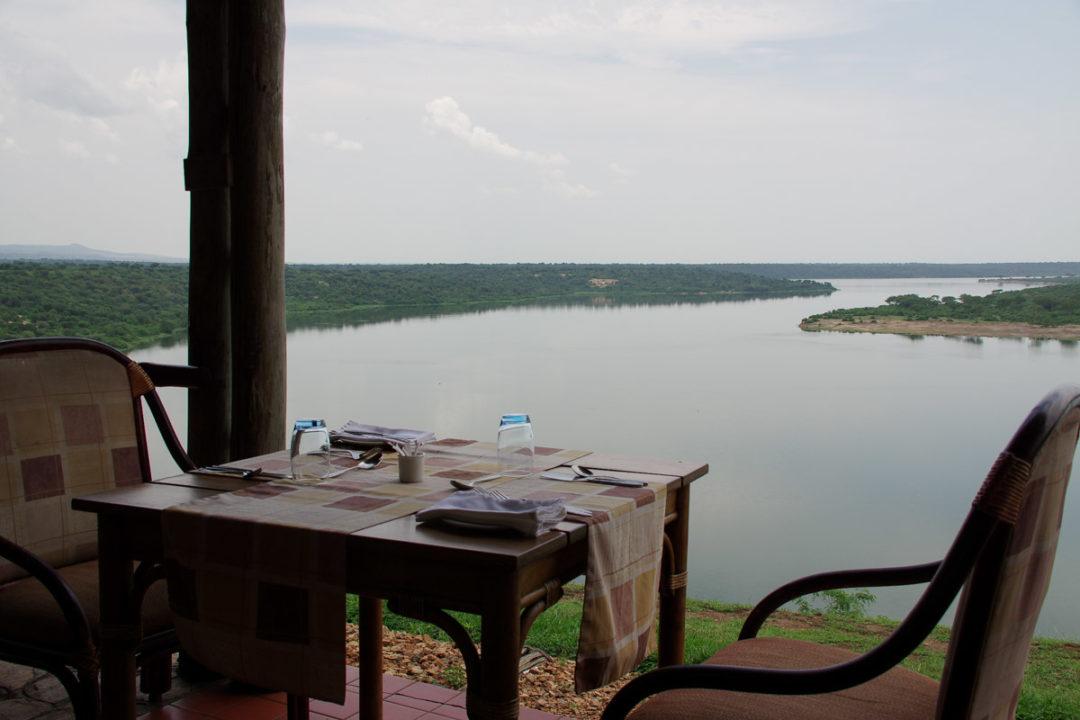 Vue sur Mweya Safari Lodge