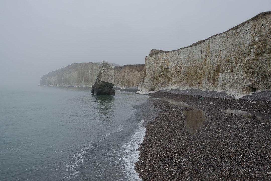 le bunker tombé de la falaise de Ste Marguerite