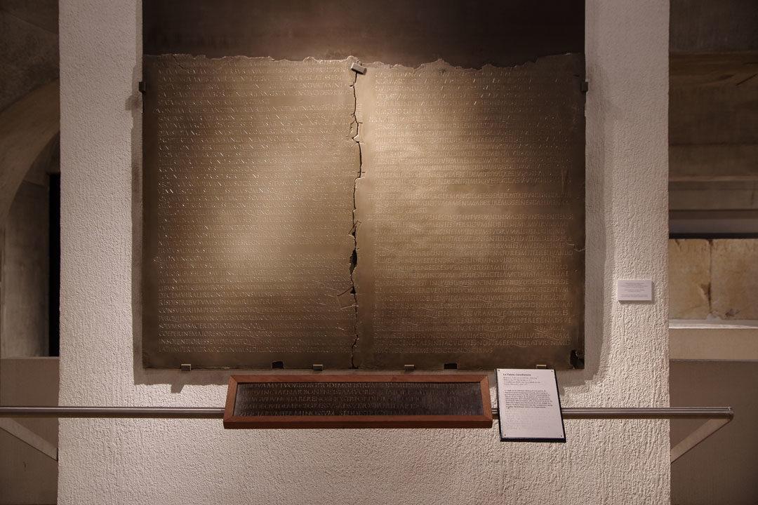 La Table Claudienne en bronze retrouvé à Lyon