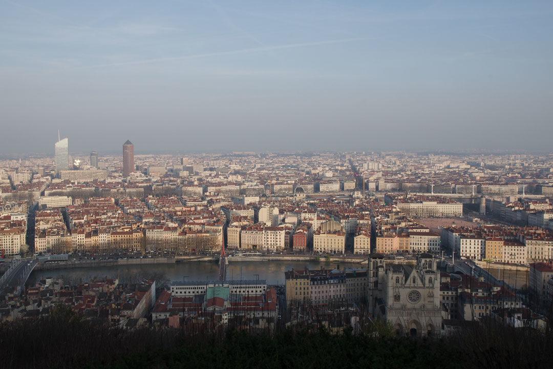 Vue sur Lyon depuis la colline de Fourviere
