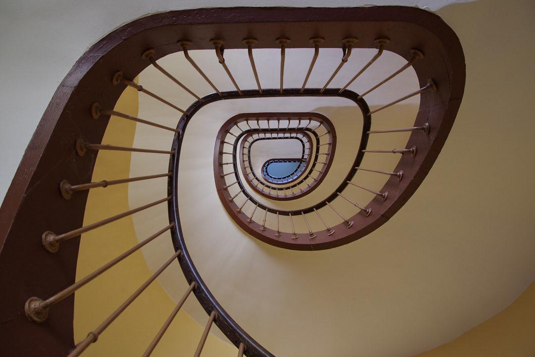 escalier du familistere de Guise