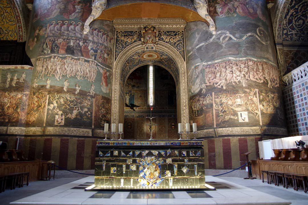 Fresque du jugement dernier dans la cathédrale d'Albi