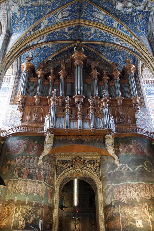 L'orgue et la fresque du jugement dernier - Albi