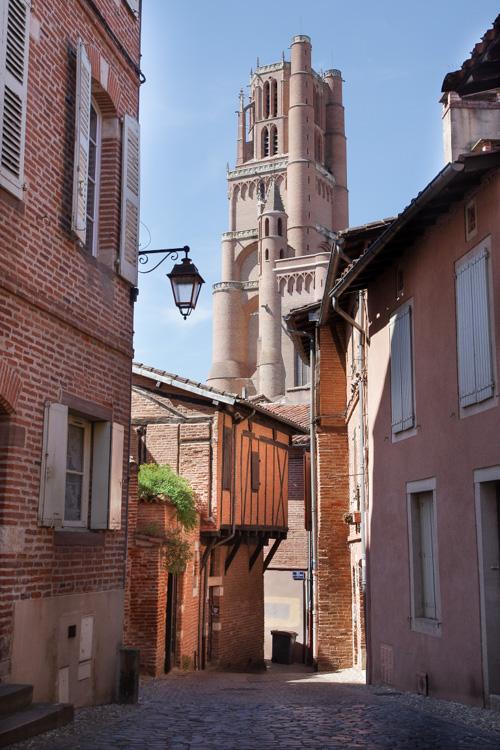 vue sur la cathédrale depuis le viel Albi