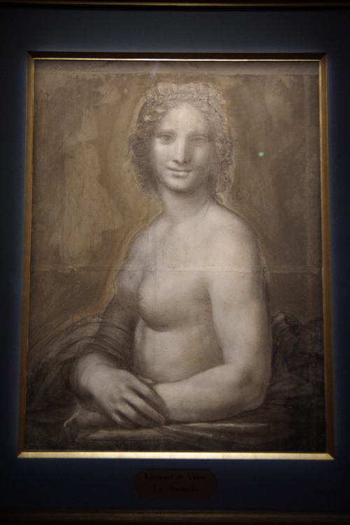dessin Joconde Nue Leonard de Vinci