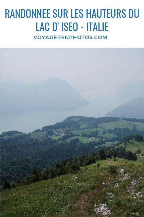 Itinéraire de randonnée sur les hauteurs du lac d'Iseo : boucle de 10 km de Bossico à Monte Colombina