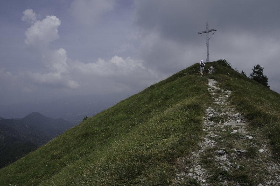 Croix au sommet du Monte Colombina