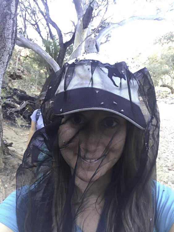 filet à mouches pour randonner dans l'outback australien