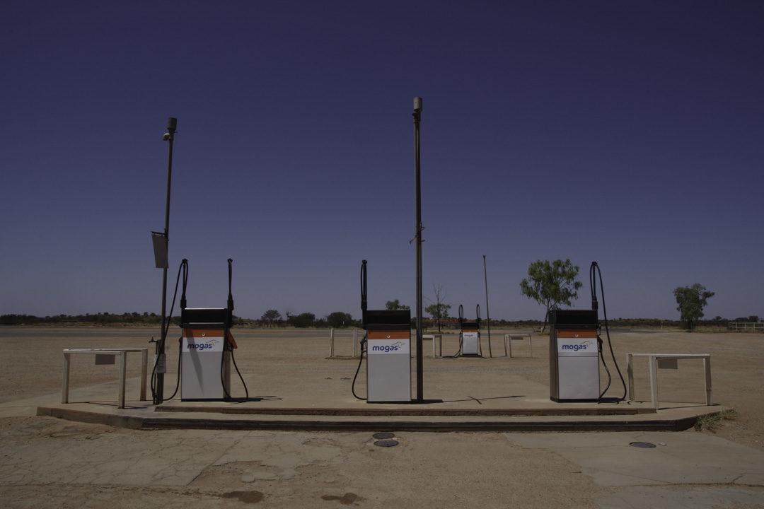 Station Essence dans l'Outback australien