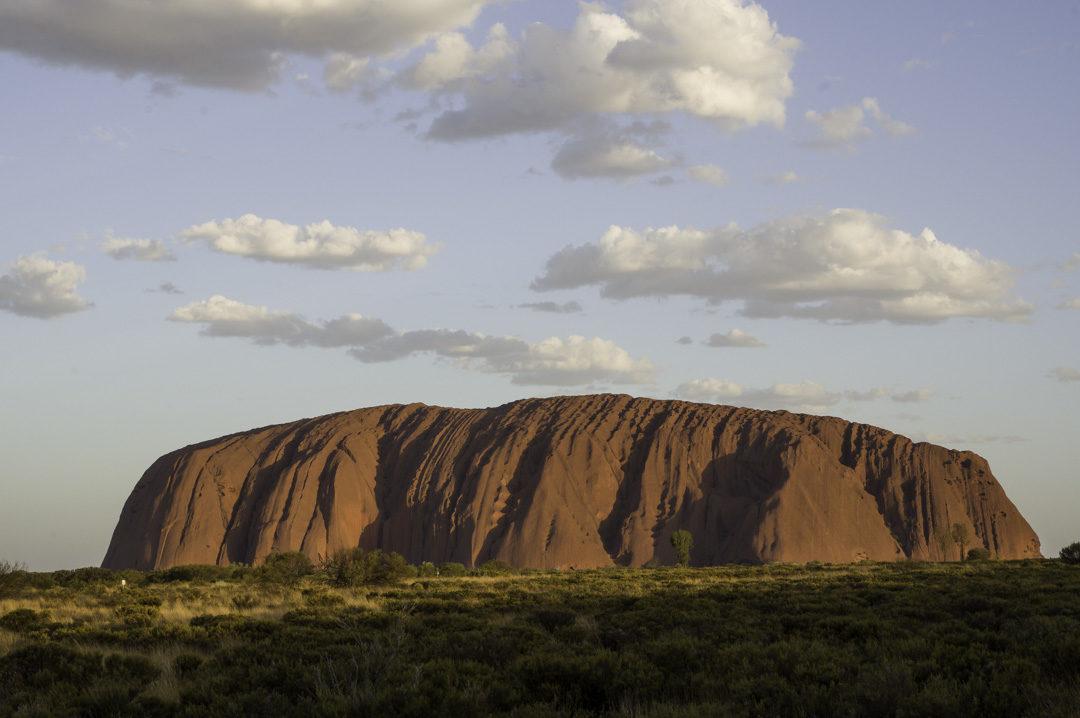 Les Couleurs du coucher de soleil sur Uluru