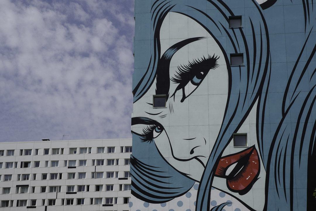 Fresque de D Face près du boulevard Vincent Auriol