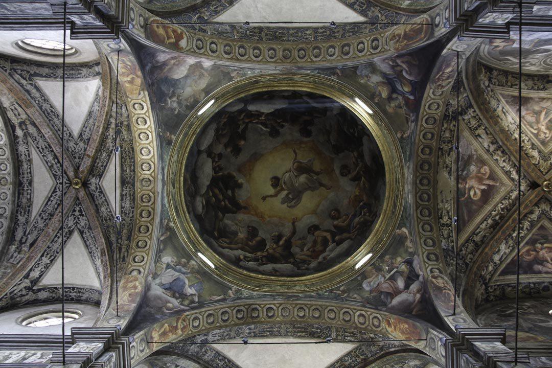 Coupole de l'église de Saint Jean l'évangéliste à Parme