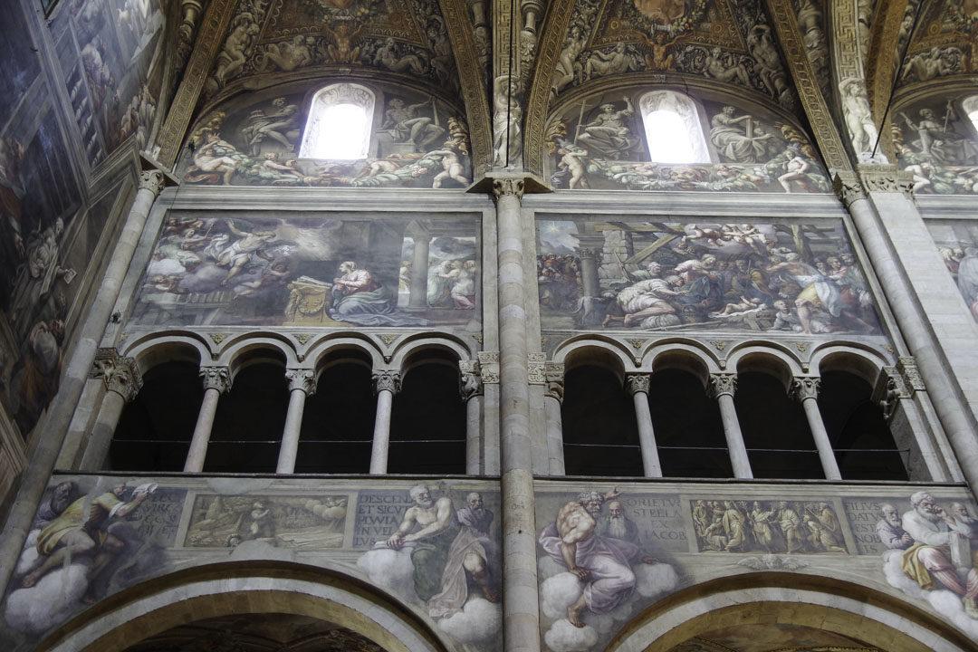 Fresque du Duomo de Parme racontant la vie de Jésus