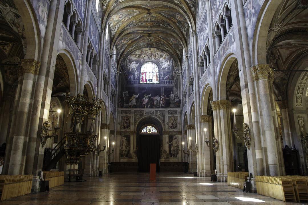 Nef de la cathédrale de Parme