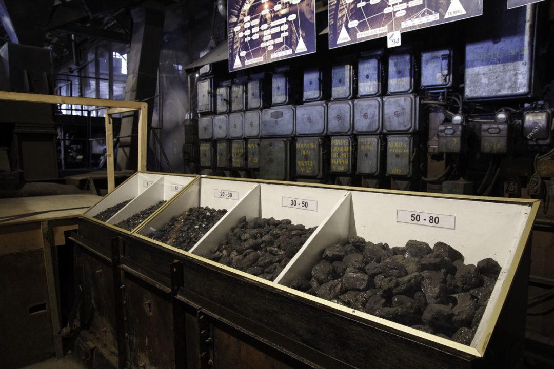 rangement du charbon par calibre