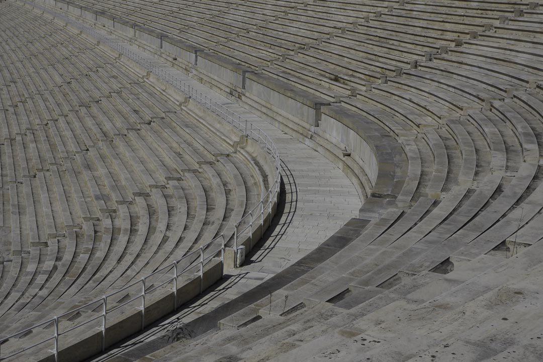 détail des gradins du stade antique