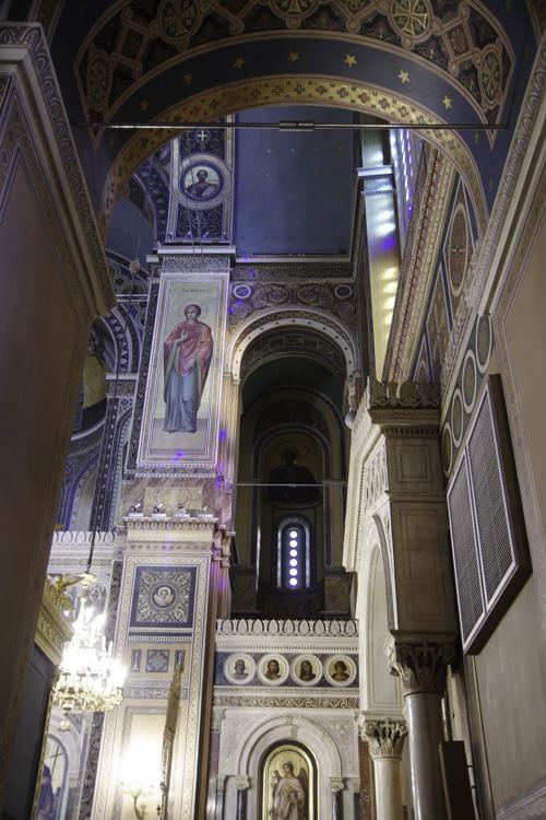 détail de la décoration intérieure de la cathédrale d'Athènes