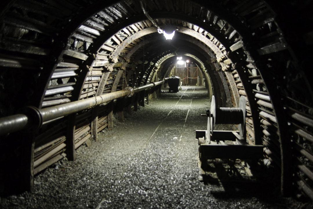 Intérieur de la mine de Blegny