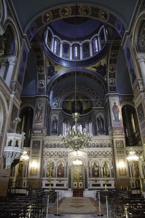 Nef de la cathédrale d'Athènes