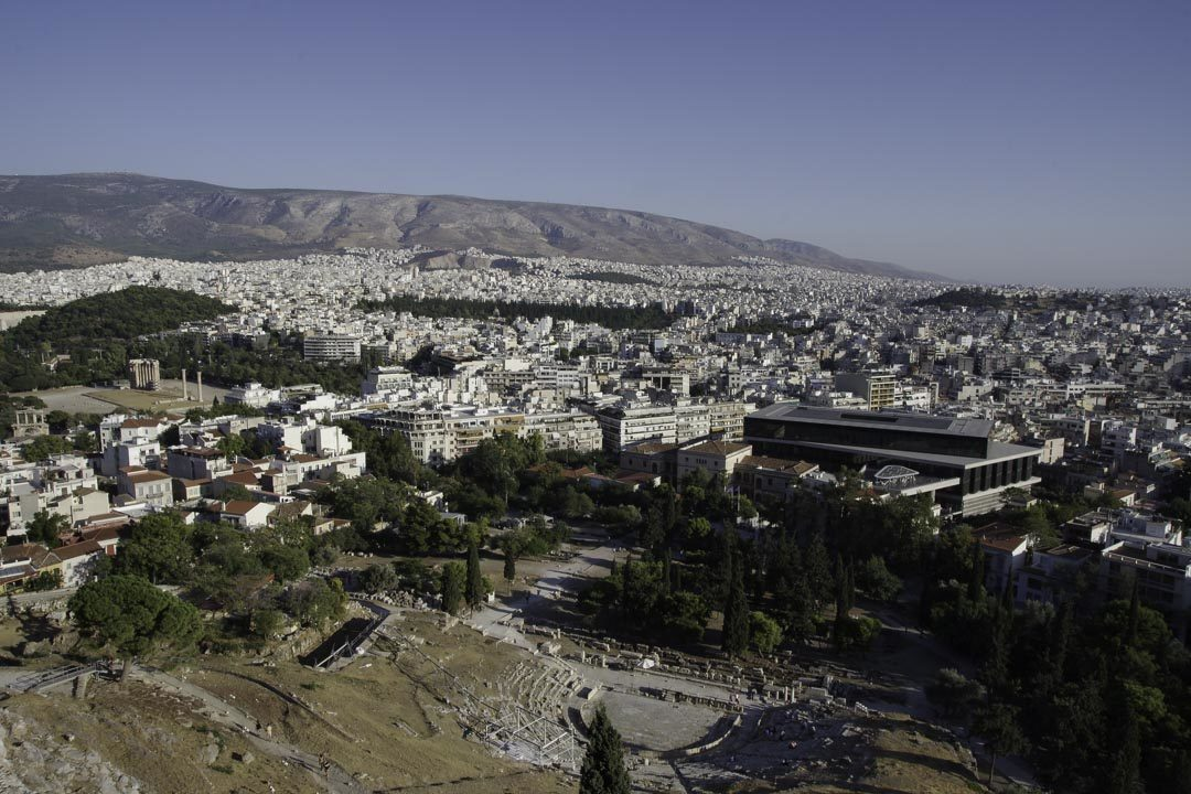 Panorama sur Athènes depuis l'Acropole
