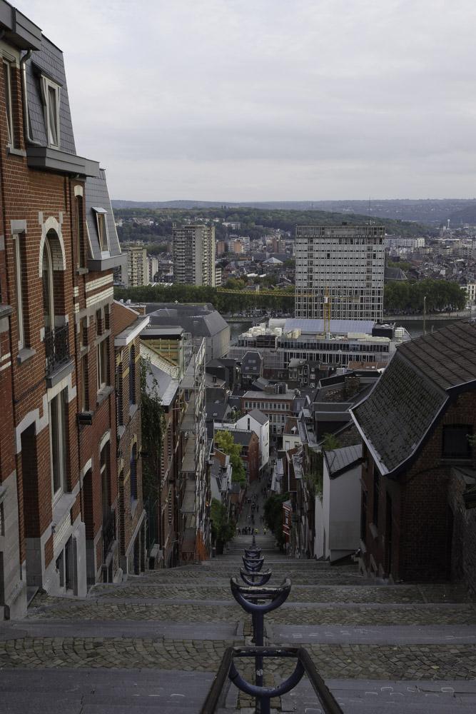 Les escaliers de la montagne de Bueren à Liège
