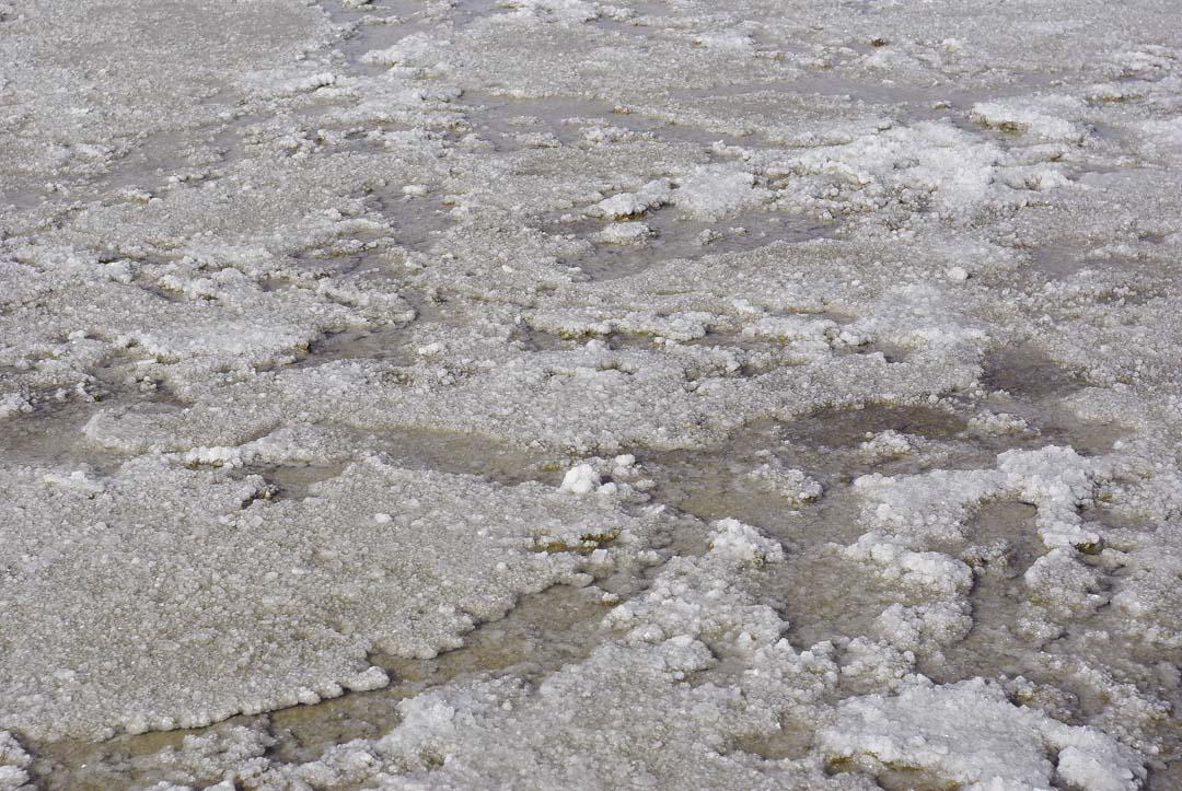 détail du sel à Badwater Bassin