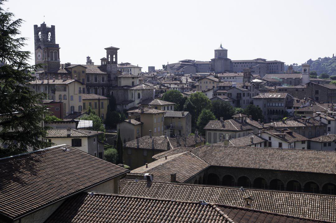 vue sur la vieille ville de Bergame