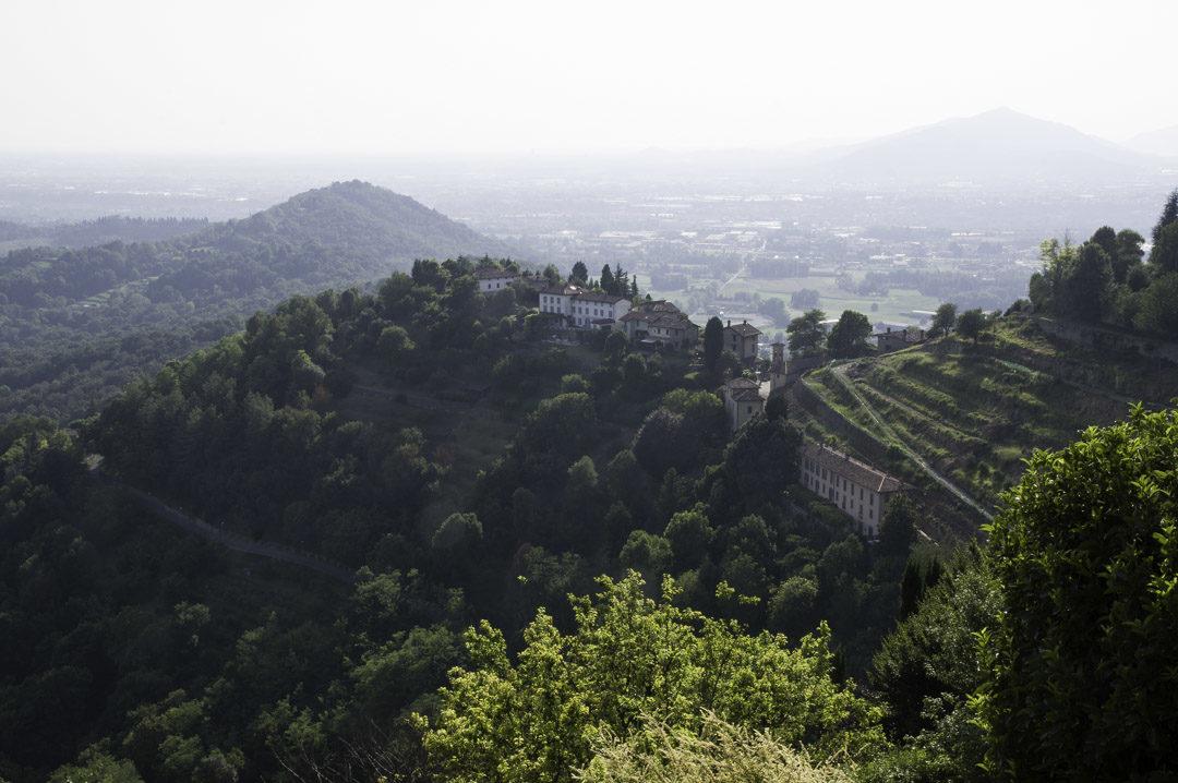 les collines autour de Bergame