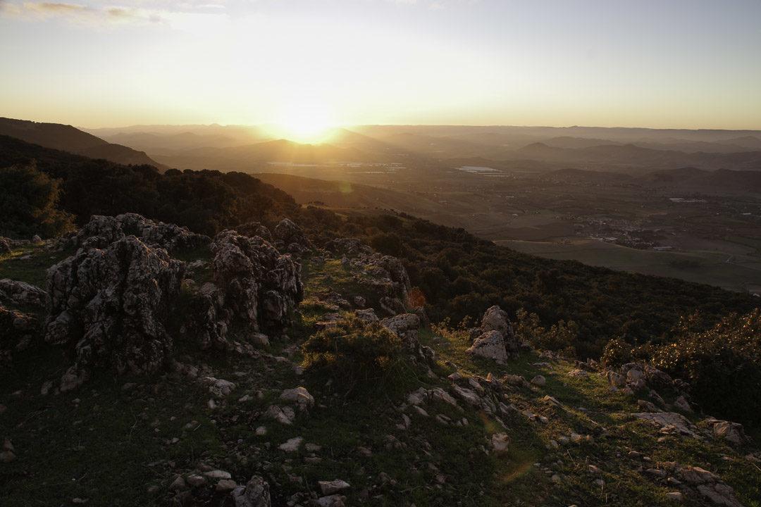 coucher de soleil sur le moyen Atlas marocain
