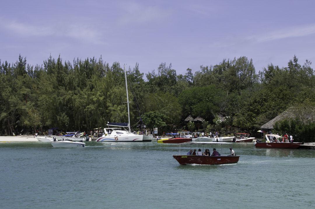 débarcadère à l'Ile Aux Cerfs