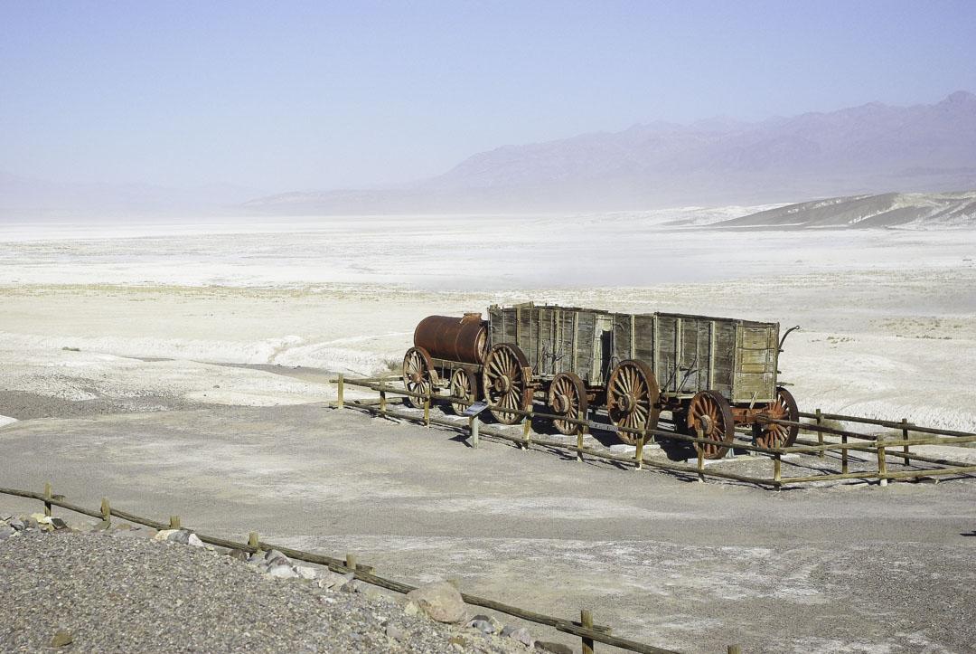 Locomotive pour l'exploitation du borax dans la Vallée de la Mort