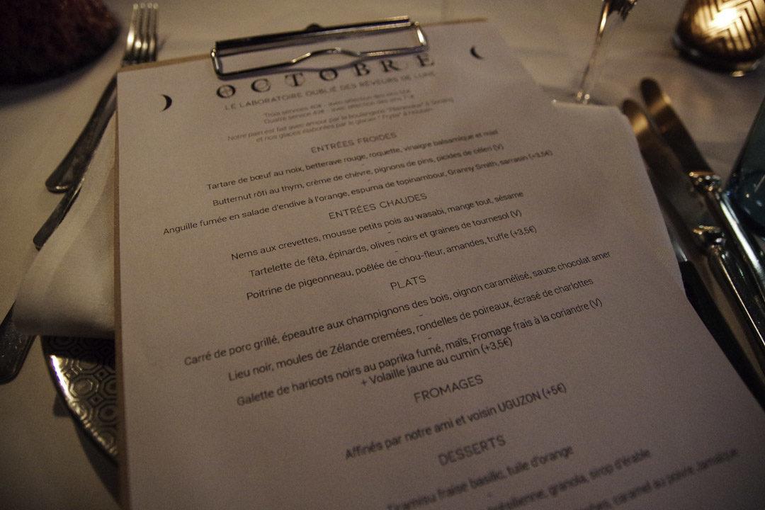 Menu - Restaurant le Thème à Liège