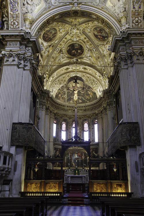 Nef de la Basicila Santa Maria Maggiore - Bergame