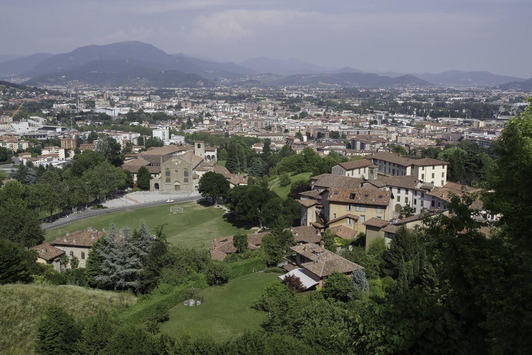 Panorama sur les environs de Bergame