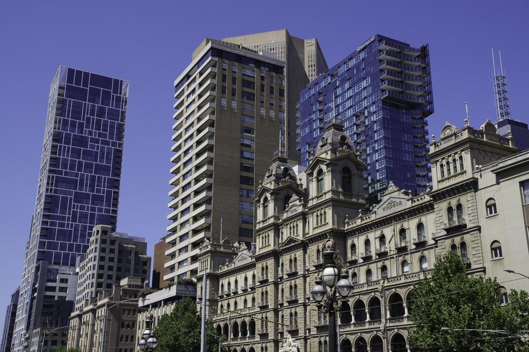 Architecture variée à Melbourne